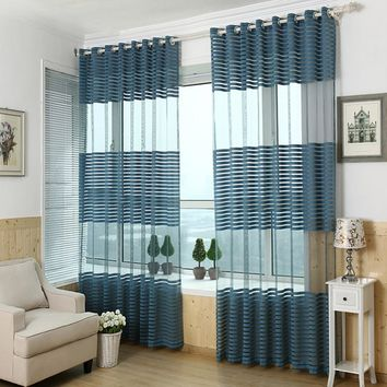 Jacquard curtain punching screens wild striped finished bedroom balcony living room hollow ventilation decorated screen