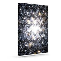 "Suzanne Carter ""Messier Chevron"" Outdoor Canvas Wall Art"