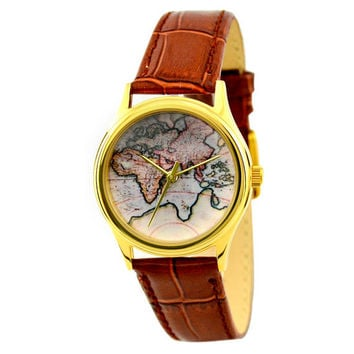 Ladies Vintage Map Watch (Eastern Hemisphere) 2