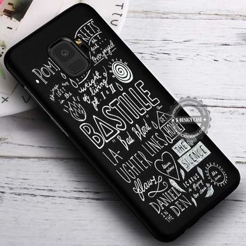 Bastille Lyrics Collage iPhone X 8 7 Plus 6s Cases Samsung Galaxy S9 S8 Plus S7 edge NOTE 8 Covers #SamsungS9 #iphoneX