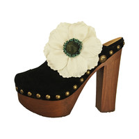 Chanel Suede Clogs