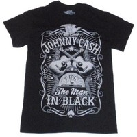 Johnny Cash The Man in Black Sun Studios Record Company Licensed Graphic T-Shirt