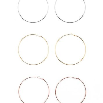 Oversized Hoop Earring Set