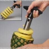Stainless Steel Pineapple Easy Slicer, Corer:Amazon:Kitchen & Dining