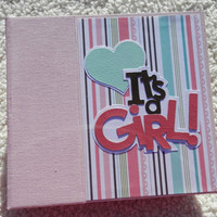 6x6 Its a  Girl Baby Scrapbook
