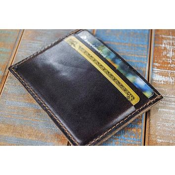 5-Slot Super Slim Front Pocket Card Sleeve Wallet (Horween Chromexcel Leather)