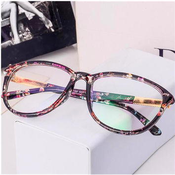 New Vintage Eyeglasses Women Brand Designer Oval Eyeglasses Frame Computer Optical Metal Arm Eye Glasses Frame oculos de grau