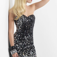 Black and Silver Don't Stop the Shine Short Homecoming Drss - Unique Vintage - Homecoming Dresses, Pinup & Prom Dresses.