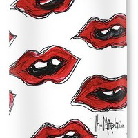 Red Hot Lips Chic And Trendy Livin The Mad Life Design By Megan Duncanson IPhone 7 Case for Sale by Megan Duncanson