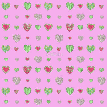 For the love of Watermelon - pink background by IAmErika