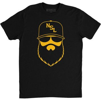 NSL Beard League Men's T-Shirt Black/Yellow