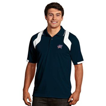 Antigua Columbus Blue Jackets Fusion Desert Dry Xtra-Lite Performance Polo