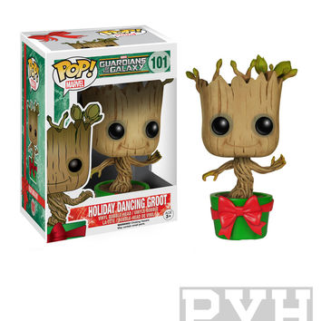 Funko Pop! Marvel: Guardians Of The Galaxy - Holiday Dancing Groot - Vinyl Bobble Head