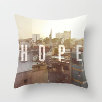 HOPE Throw Pillow by Pocket Fuel