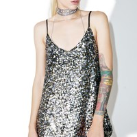 Multi Sequin Slip Dress