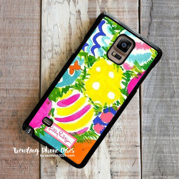 Easter Wallpaper - Lilly Pulitzer Samsung Galaxy Note 4 Case Cover for Note 3 Note 2 Case