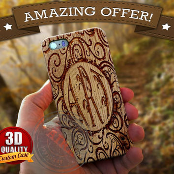 Monogram Case, Custom Floral Pattern for Iphone 4, 4s, Iphone 5, 5s, Iphone 5c, Samsung Galaxy S3, S4, S5, Samsung Galaxy Note 2, Note 3.