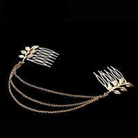 Brand Tassel Leaf Long Hairwear Women Trendy Hairwear Sparkling Plated Crystal 2018 Bridal Hair Combs Hair Jewelry