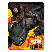 How to Train Your Dragon 2 Red Flames  Micro Raschel Blanket (46in x 60in)