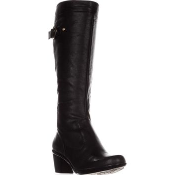 naturalizer Eliane Knee-High Buckle Boots, Black, 6.5 US / 37 EU