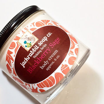 Blackberry Sage Body Cream | Fall Lotion | Blackberry Lotion | Sage Lotion | Natural Lotion | Shea Lotion | Hand Body Cream | Body Lotion