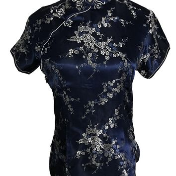 Shanghai Story Chinese Cheongsam Shirt Short Sleeve China Blouse For Women