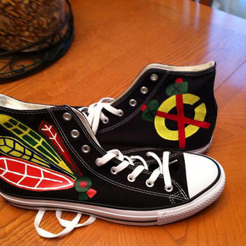 e9e5851ffba06a Chicago Blackhawks Converse All-Star High from DashingDiscoveries