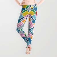 Map Outline 45 Repeat Leggings by Project M