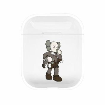 Kaws Protective Tpu Apple Airpod Case - Clear