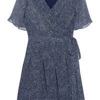 Katina chiffon silk wrap dress | Diane von Furstenberg | US | THE OUTNET