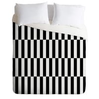 Bianca Green Black And White Order Duvet Cover