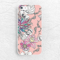 Abstract Floral print phone case for iPhone 6, Sony z1 z2 z3 compact, LG g2 g3 nexus 5, HTC one m7 m8, Moto x Moto g, Nokia lumia 520 -P21