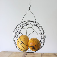 Mini Hanging Sphere Wire Basket