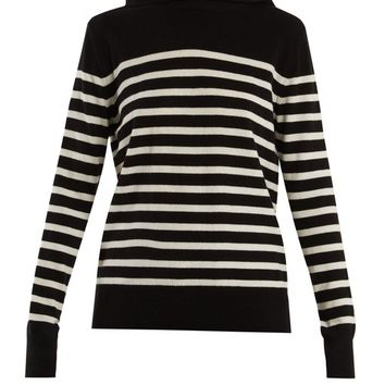 Hooded striped cashmere sweater | Saint Laurent | MATCHESFASHION.COM US