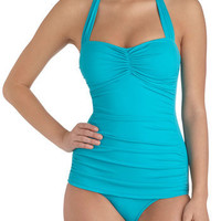 Esther Williams Bathing Beauty One Piece in Teal | Mod Retro Vintage Bathing Suits | ModCloth.com