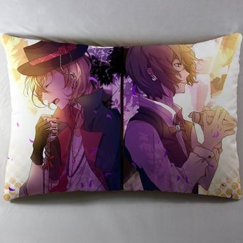 Anime Manga Bungo Stray Dogs 40*60cm Pillow Case Cover Seat Bedding Cushion 002