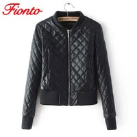 Spring Leather Jacket Women Outerwear Casual Jacket And Coat Ladies Slim Clothing Female Motorcycle PU Leather Jackets A1370