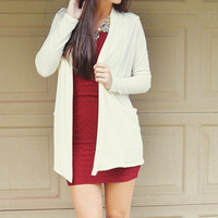 There You'll Be Cardigan: Ivory