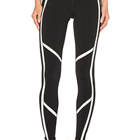 Talia Legging in Black & Natural Glossy