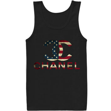 choco chanel flag for tank top