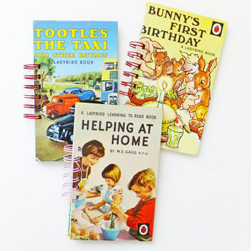 Ladybird Book Journal, Holiday Notebook, Tootles the Taxi Notebook, Ladybird Book Notebook, Bunny's First Birthday Notepad
