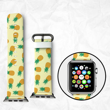 Handmade Apple Watch Strap 38/42mm - Pineapple (BBSW031)
