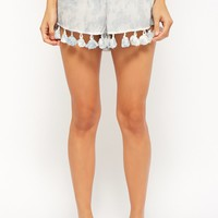 Boho Me Cloud Wash Tassel Shorts