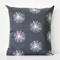 Decorative grey pillow cover - throw pillows - sham -  20x20