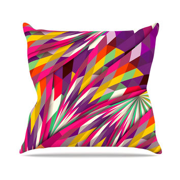 "Danny Ivan ""Sweet"" Multicolor Geometric Throw Pillow"