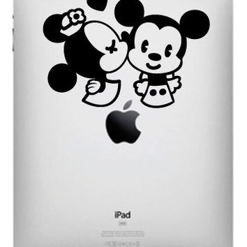 Minnie kissing Mickey cutie  for IPad vinyl decal