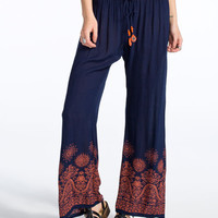Patrons Of Peace Womens Pants Navy Combo  In Sizes