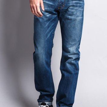 Men's Straight Fit Selvedge Jeans M527SV - B1D