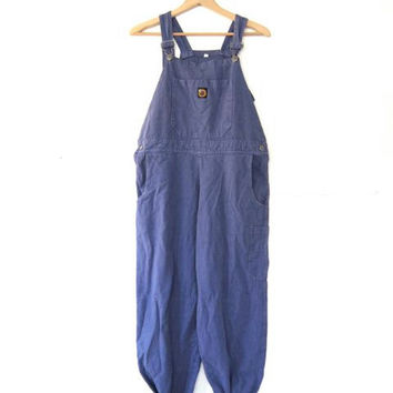 80s Purple Bib Overalls // Carpenter Pants // Jean Overalls. Womens Bibs.