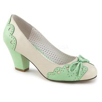 Pin Up Couture Wiggle Mint Cuban Heel Pumps